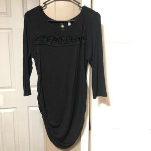 Black Maternity Long Sleeve Top